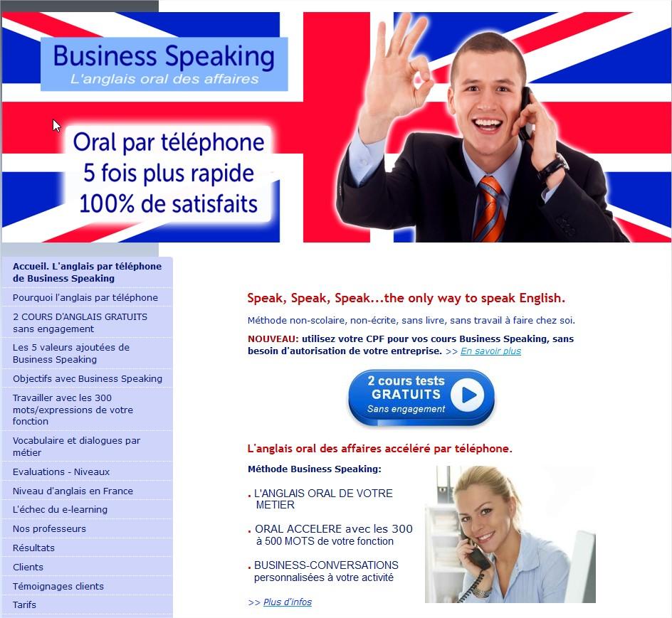 Anglais professionnel par téléphone