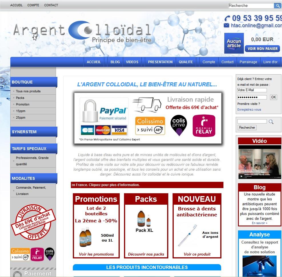 Argent Colloidal : Boutique en ligne de vente d'argent colloidal