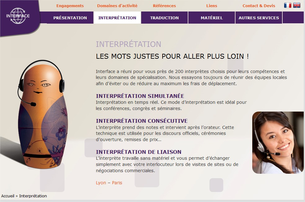 interprétation simultanée Lyon Paris