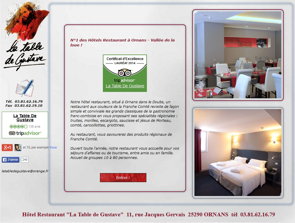 Hotel restaurant Ornans